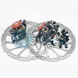 New-Avid-BB7-Mountain-MTN-Disc-Brake-Calipers-G3-rotors-160mm-Front-and-Rear