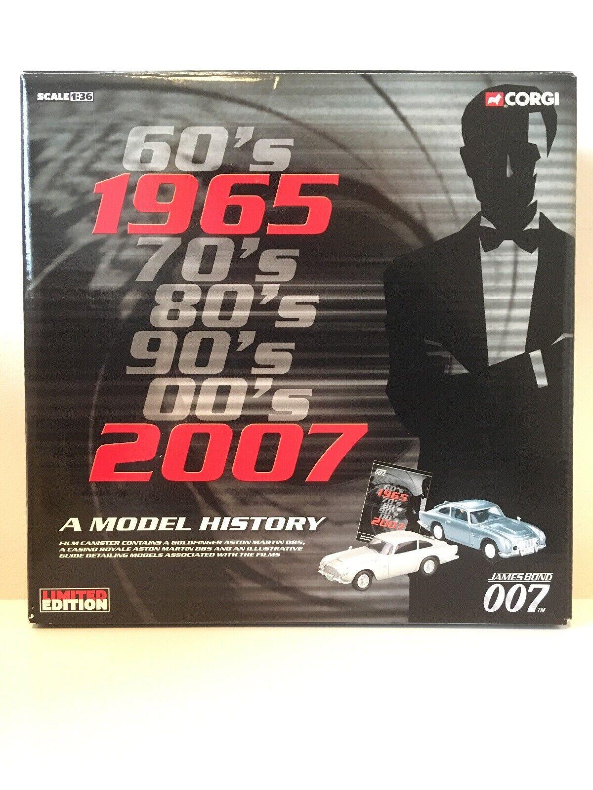 Rare James James James Bond Corgi 93989 ,Limited Edition ,Film Cannister DB5 Die Cast Set 00a663