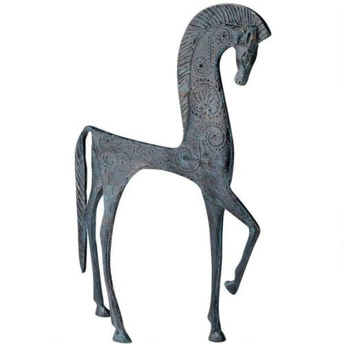 Hellenistic Spartan Horse Greek Replica Iron Statue