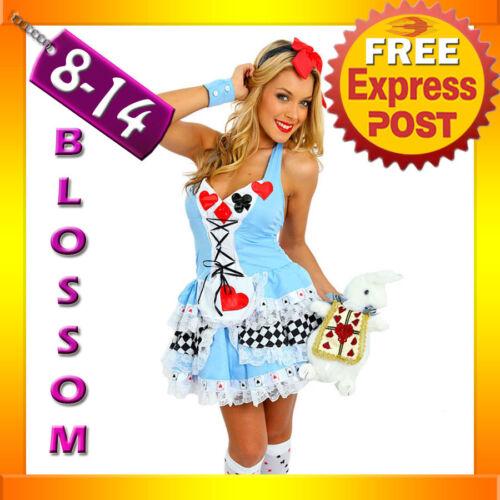 F6 Ladies Alice In Wonderland Disney Halloween Fancy Dress Costume Outfit