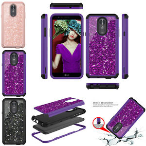 For LG Stylo 3 / Stylo 4 Shockproof Rubber +PC Hard Back