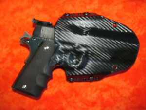 HOLSTER-BLACK-CARBON-FIBER-FITS-COLT-1911-70-series-45-Auto