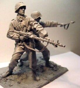 Unpainted-1-16-German-Soldiers-WW2-Resin-Figure-Model-Kit-Unassembled-NO-BASE