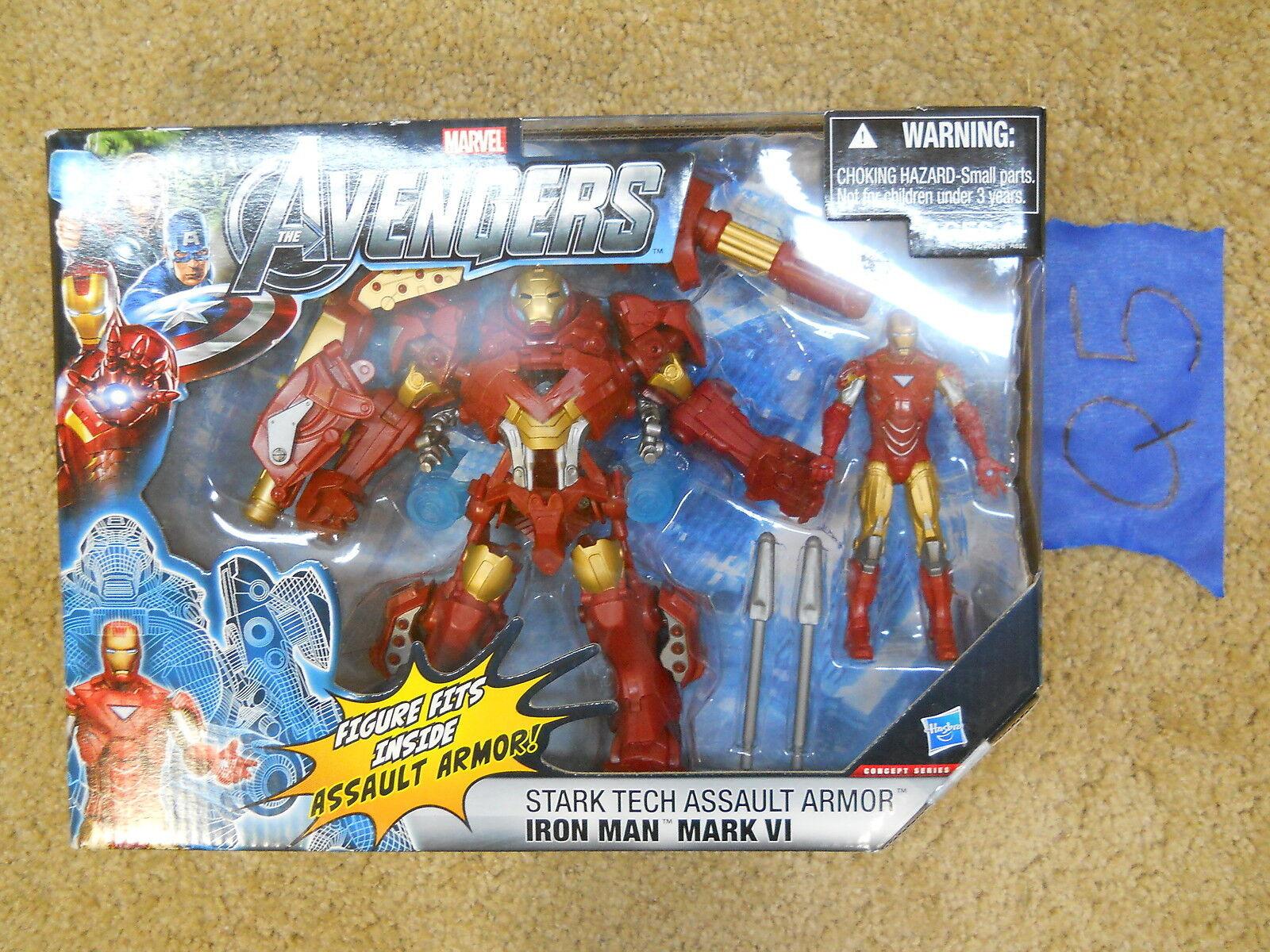 Q5_9 Hasbro Marvel Universe AVENGERS 2 IRON MAN MARK VI SternK TECH ASSAULT ARMOR
