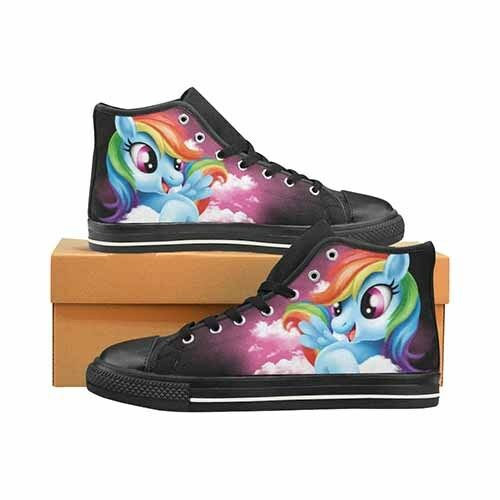 My Little Pony Rainbow Dash MLP Men's Classic High Top Canvas shoes DC