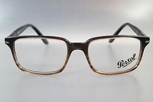 Persol-Brille-Herren-PO3013-V-1026-Braun-Gr-51-17-Retro-NEU