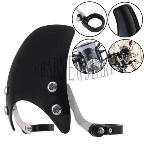 Blk 39mm Plactic Windshield Windscreen Waterproof For Harley Sportster 883 1200