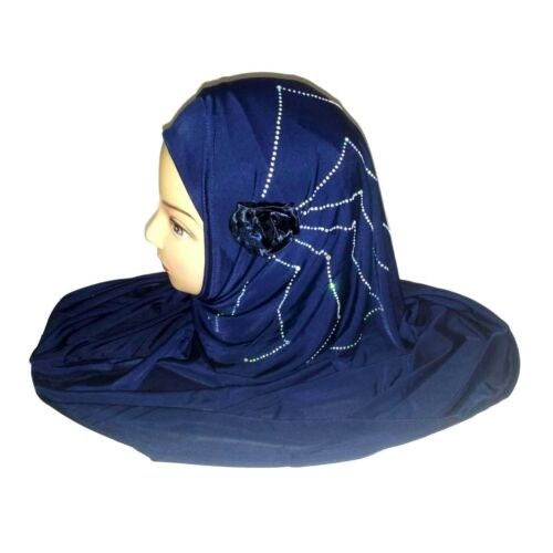 Scarf with Rhinestones Islam Head Scarf Jadeed Muslim Hijab Neckcloth