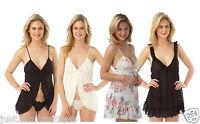Ladies Babydoll Slip Chemise Nighty Size 6 8 10 12 14 16 18 20 NEW