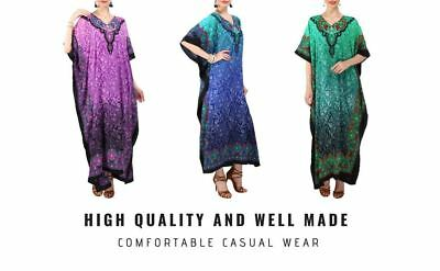 Warnen Women Kaftan Tunic Kimono Free Size Long Maxi Party Dress For Loungewear Perfekte Verarbeitung