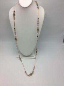38 Nine West Rose Gold Tone Multi Beaded Necklace Nw2 642447155204