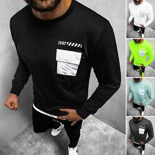 Strickpullover Langarm Sweatshirt Pulli Rundhals Neon Herren OZONEE MACH//2005