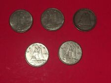Lot of 5  Canada Silver 10 Cent Dimes VGC L@@K!