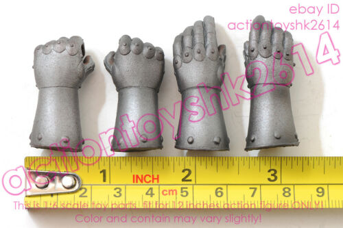 1//6 scale POPTOYS EX019-A Saint Knight Charge version Gloved hands x 4pcs