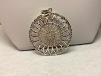 Milor Italy .925 Sterling Silver Assisi Window Design Pendant