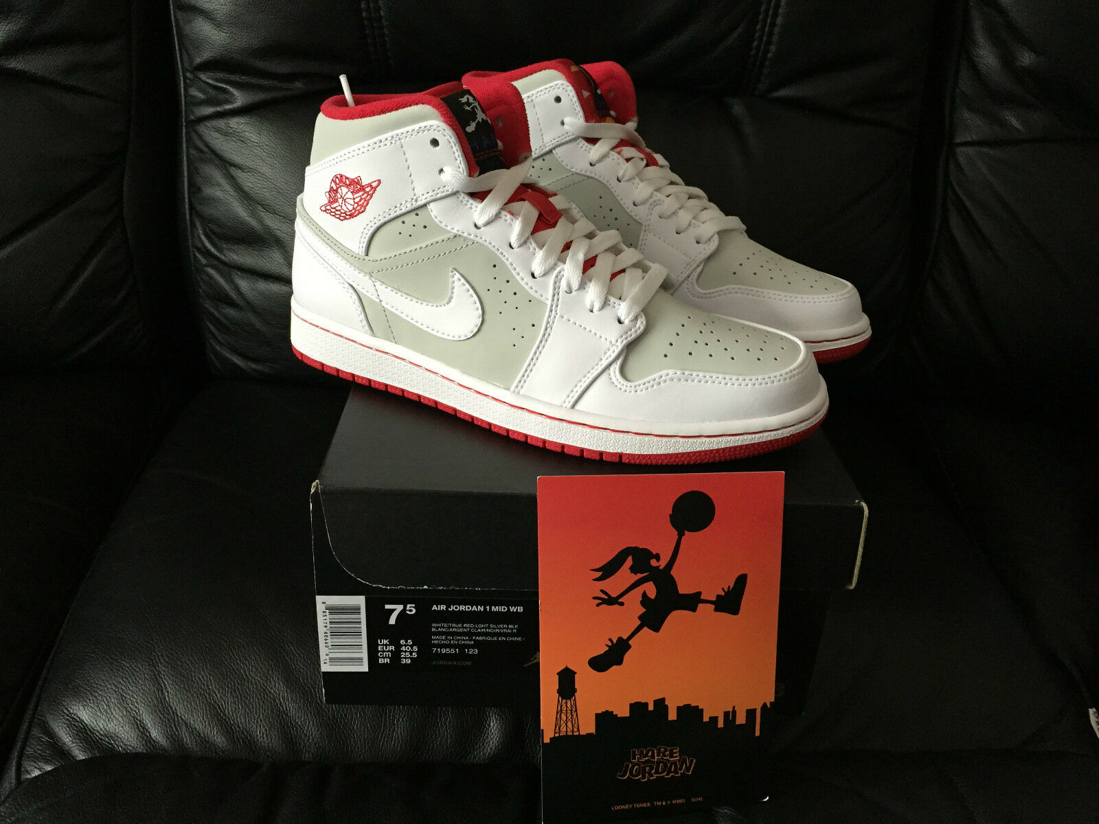 NIKE AIR JORDAN 1 MID HARE LIMITED 6 EDITION ALL Talla 5 6 LIMITED 7 8 9 10 11 NEW 53a972