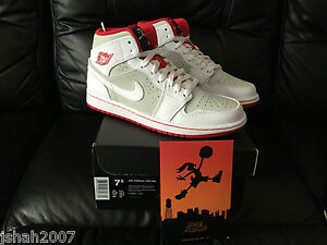 cdd549a16b84d NIKE AIR JORDAN 1 MID HARE LIMITED EDITION ALL SIZES 5 6 7 8 9 10 11 ...