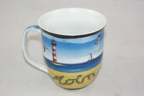 Hösti Kaffeebecher Leuchtturm Moin Möwe Seehund Wattwurm Becher Tasse Cartoon