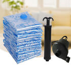 5Size Space Saver Saving Storage Bags Vacuum Seal Compressed Organizer Bag&Pump