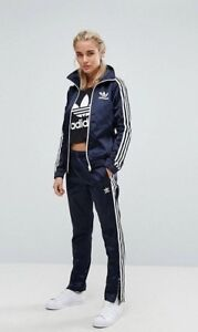 Details about SMALL adidas Women's SATIN EUROPA TRACK TOP & PANTS UK:10 US:6 BLUE LAST1