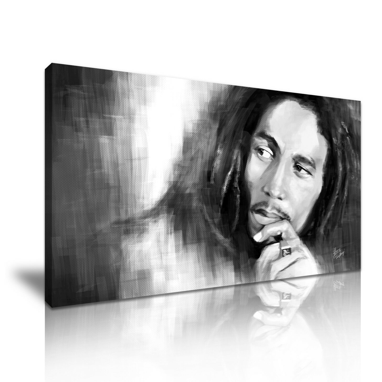 Bob Marley Music Icon  Modern Wall Art Canvas Print Framed  Many Größes
