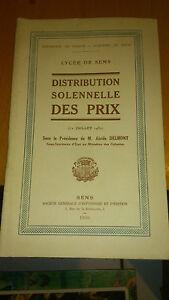 SENS - Lycée de Sens - Distribution solennelle des Prix - 1930 - France - SENS - Lycée de Sens - Distribution solennelle des Prix - 1930 - France