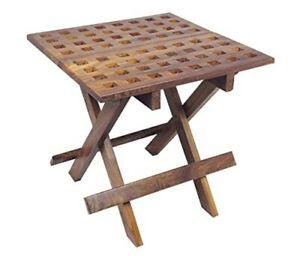 Détails sur Carré (E) Table- Table D\'Appoint Bois de Jardin, Camping,  Pliante, Kajüte