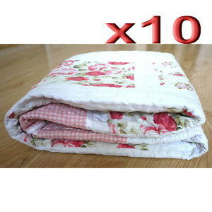 10pc Wholesale Patchwork Pattern Reversible Cotton Blanket Quilted ... : quilted throws wholesale - Adamdwight.com