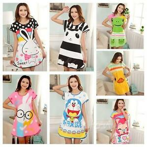 Women-Animals-Pajamas-Costume-Party-Pyjamas-Night-Gown-Dress-Sleep-Wear-Shirt