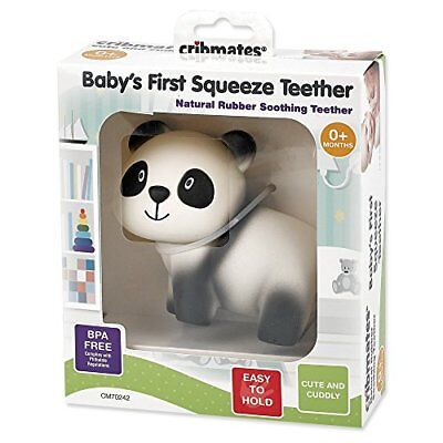 Active Cribmates Baby's 1st Squeeze Teether/teething Toy Soft Natural Rubber Panda New Baby