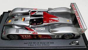 1/24 Spark Lms003 Audi R10 Tdi # 8 Gagnant Lm 2006 Rare Nouveau