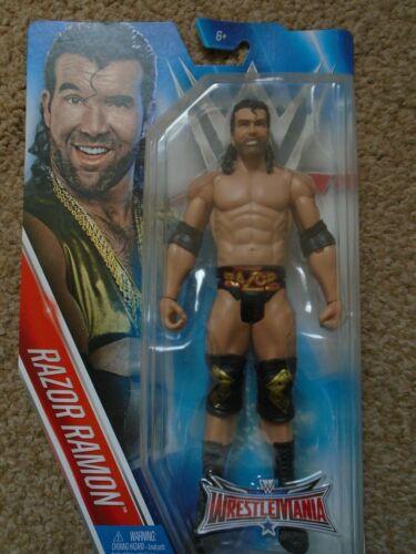 WWE Mattel Razor Ramon Wrestlemania 32 figura de la serie básica-Nuevo Y En Caja.