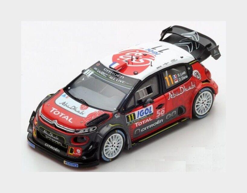 Citroen C3 Wrc #11 Rally Tour De Corse 2018 S.Loeb D.Elena SPARK 1:43 S5969   Larges Variétés