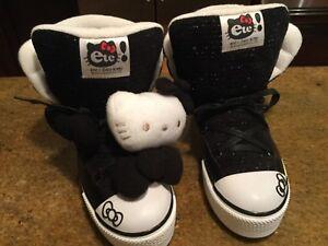 e61105715 ete! X HELLO KITTY high top shoes Women's EU Sz 37 USA 6 Black | eBay