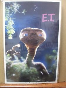 Vintage-Poster-E-T-The-Extra-Terrestrial-Movie-1982-Alien-Inv-G430