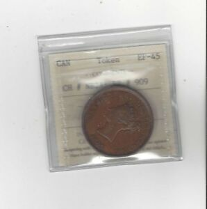 Can-Token-NB-2A-Breton-909-ICCS-Graded-EF-45-One-Penny-Token-1