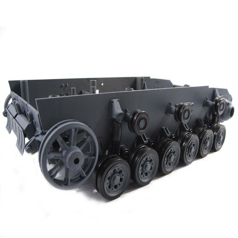 HL Replacement Plastic Classis With Main Wheels For 1 16 RC 3848-1 Panzer Ⅲ Tank