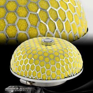 "3/"" Honeycomb Mesh Blue Mushroom Gauze Short Ram Cold Air Intake Turbo Filter"