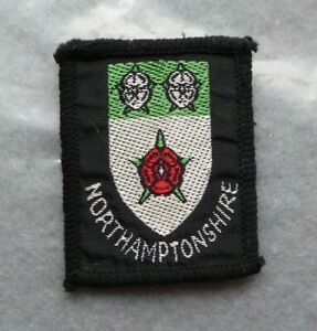 Vintage-Scouts-cloth-badge-Northamptonshire-1-8-x-1-5-inches