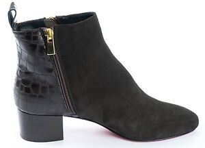 Marrone 40 In Stivali Mori Stiefel Heels Ankle Made Brown Leather Boots Italy FRxvxqw5P