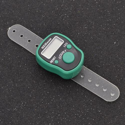LED Digital Finger Ring Tally Counter Kintting Row Counter Clicker Tasheeh