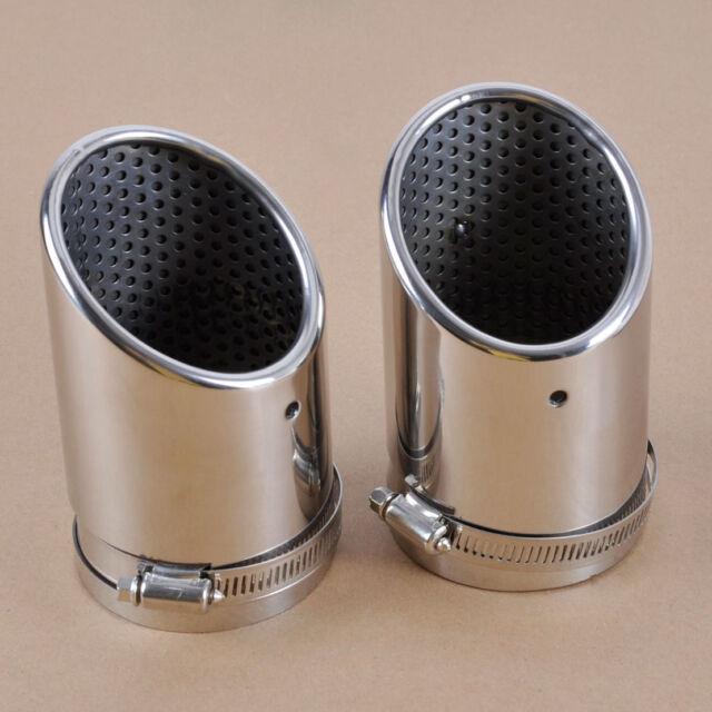 2X TAIL REAR EXHAUST MUFFLER TIP PIPE For VW Passat B6 06-10 CC 08-12 EOS 06-12