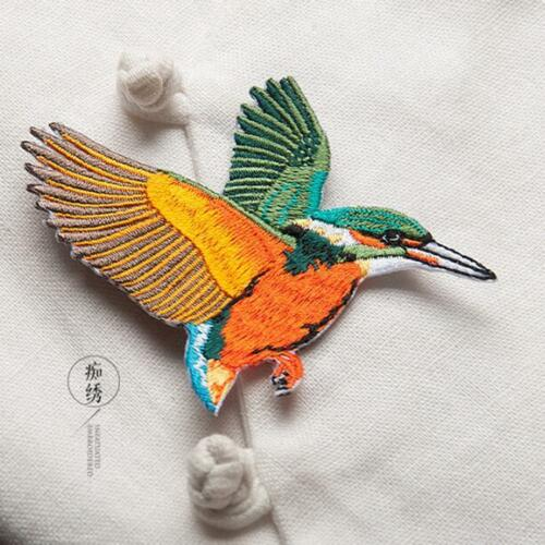 Iron On Patch Badge Fabric Applique SO Embroidery Rainbow Bird Sew On