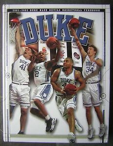 Image Is Loading 2001 2002 Duke Blue Devils Basketball Yearbook Large