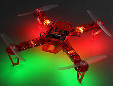 Diatone 250mm Quadcopter Frame with LEDs, PDB, 5v UBEC (Red)