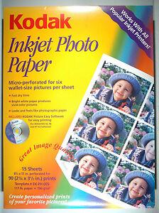 KODAK-INKJET-PHOTO-PAPER-for-90-wallets-6-per-sheet-8-5-034-x11-034-on-home-printer