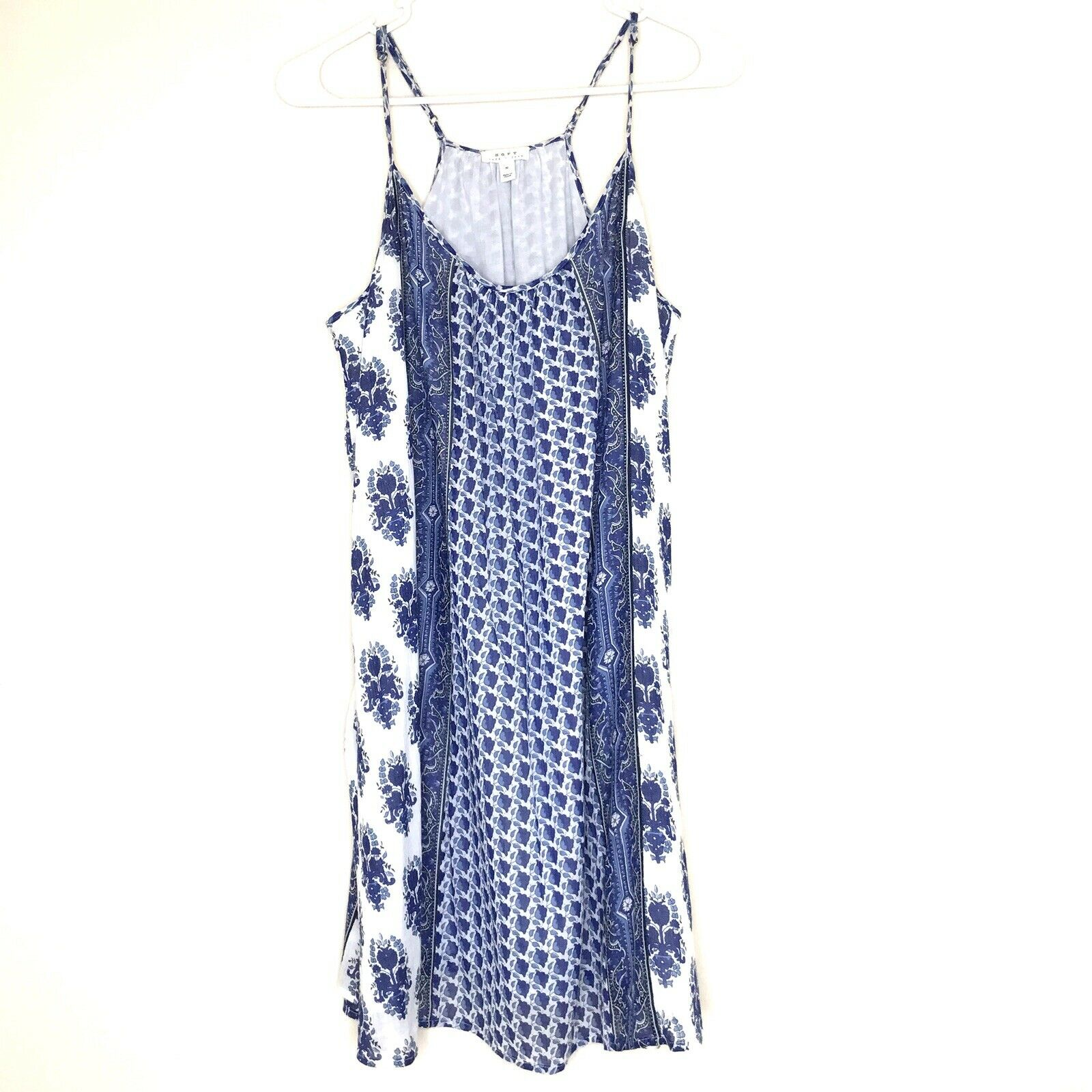 SOFT JOIE Jorrell B Blau Weiß Floral Dress Medium