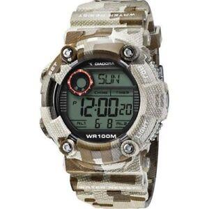 Orologio-DIADORA-STORM-DI-017-03-Camo-Brown-Chrono-Timer-Sveglia-Alarm-WR-100mt
