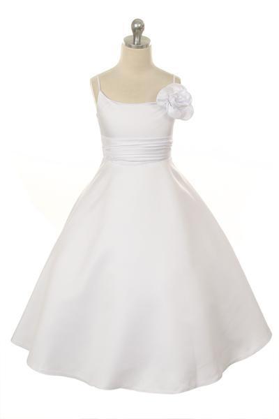 Flower Girl & Communion Dresses Kid's Dream #8032HC--Color White--Size 4