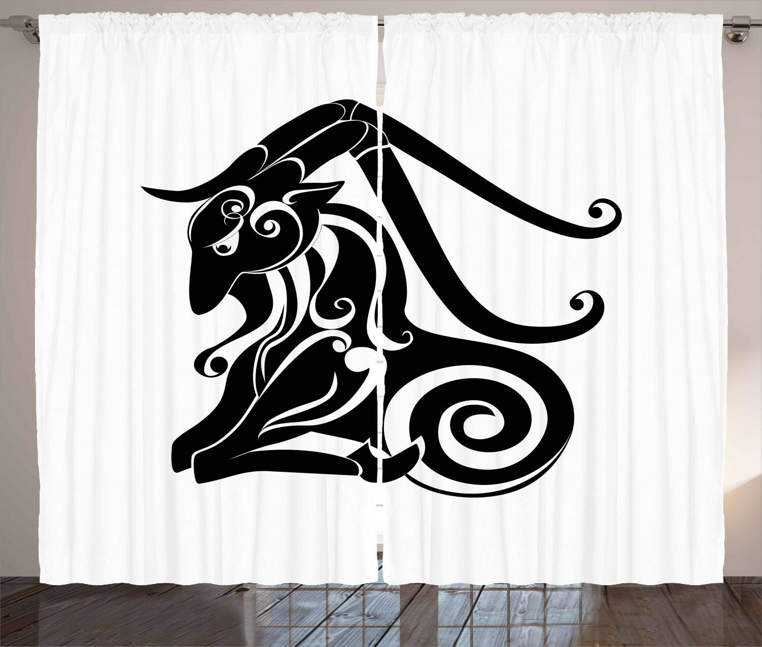 Zodiac Curtains 2 Panel Set for Home Home Home Decor 5 Größes Available Window Drapes 5a3123